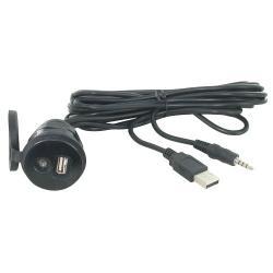 MB USB+AUX inbouw/opbouw socket