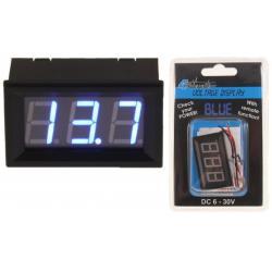 4Connect VD1B Digitale Voltmeter Blauw (6 - 30 Volt)