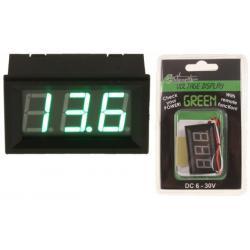 4Connect VD1G Digitale Voltmeter Groen (6 - 30 Volt)