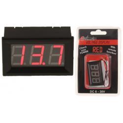 4Connect VD1R Digitale Voltmeter Rood (6 - 30 Volt)