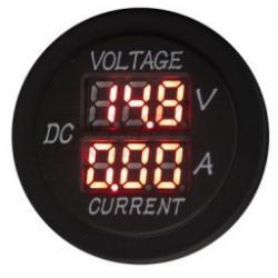 4Connect Digitale Volt + Ampèremeter Rond (Waterbestendig)