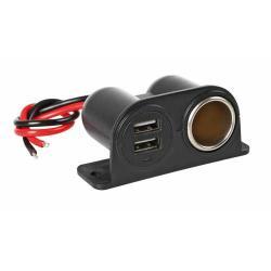 MB USB/ 12 Volt opbouw socket